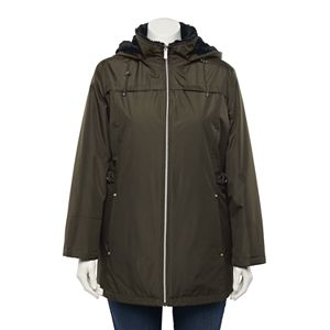 Plus Size d.e.t.a.i.l.s Radiance Hooded Water-Resistant Jacket