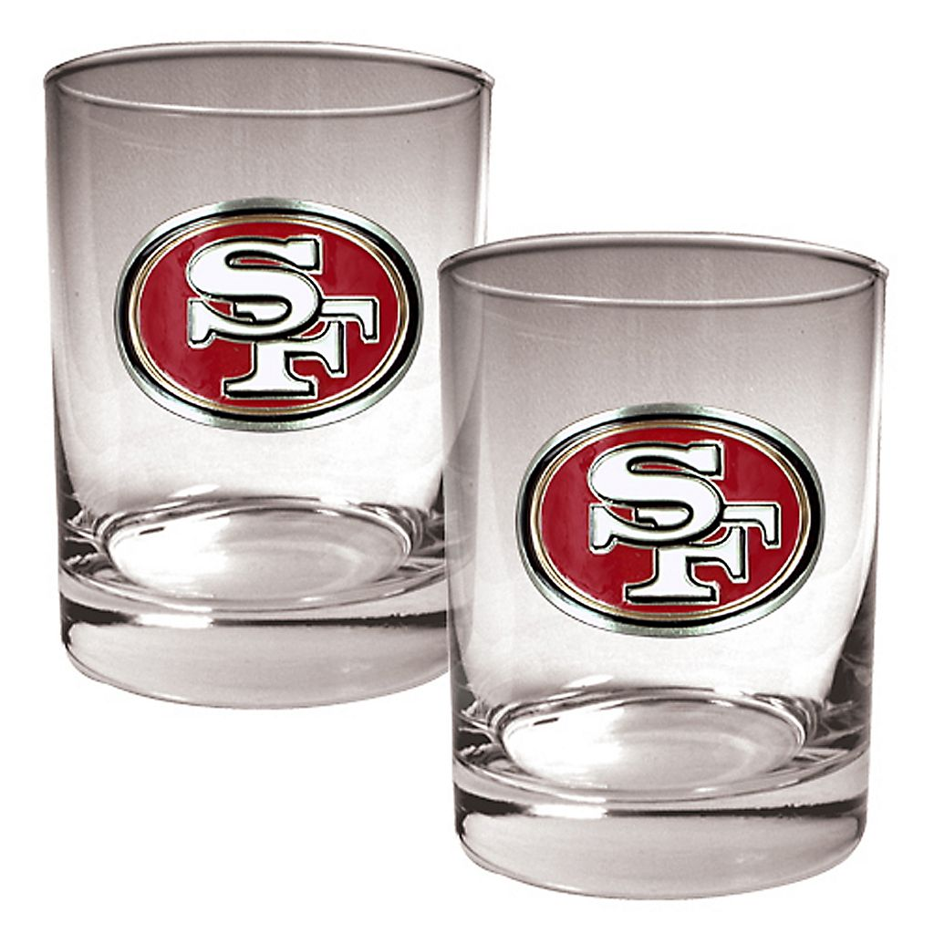San Francisco 49ers 2-pc. Rocks Glass Set