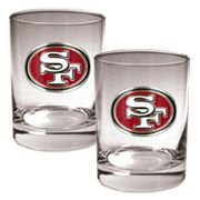 San Francisco 49ers 2 pc Rocks Glass Set