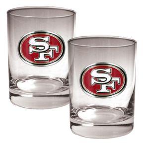 San Francisco 49ers 2-pc. Rocks Glass Set
