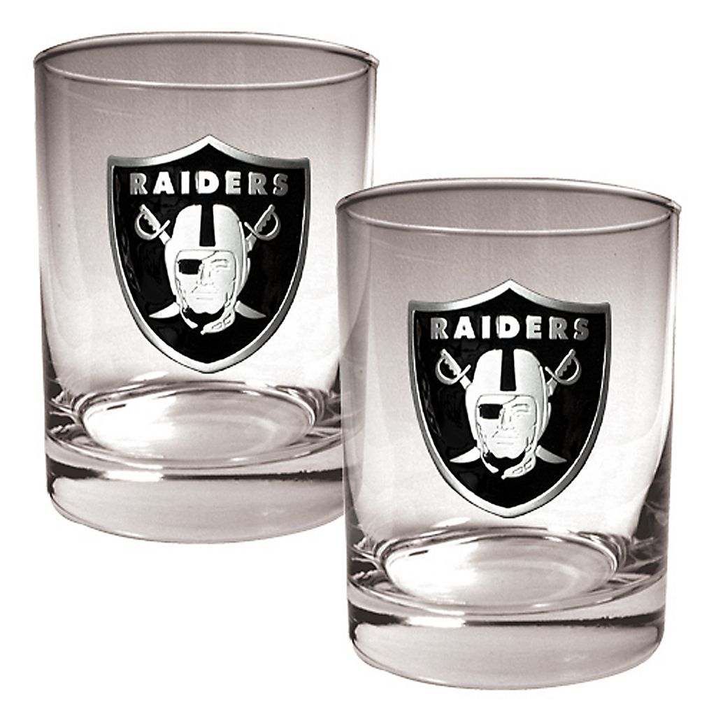 Oakland Raiders 2-pc. Rocks Glass Set