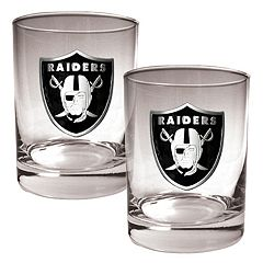 Oakland Raiders 2-pc. Rocks Glass Set