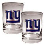New York Giants 2-pc. Rocks Glass Set