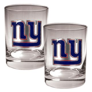 New York Giants 2-pc. Rocks Glass Set