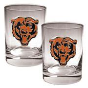 Chicago Bears 2 pc Rocks Glass Set