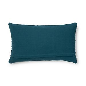 Sonoma Goods For Life Stone Washed Diamond Feather Fill Oblong Throw Pillow