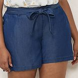Plus Size LC Lauren Conrad Tie Paperbag Waist Shorts