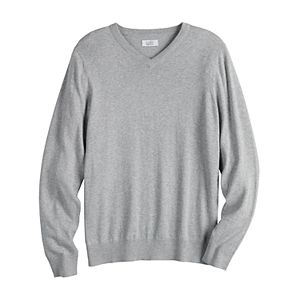 Men's Croft & Barrow® Easy-Care Solid V-Neck Sweater