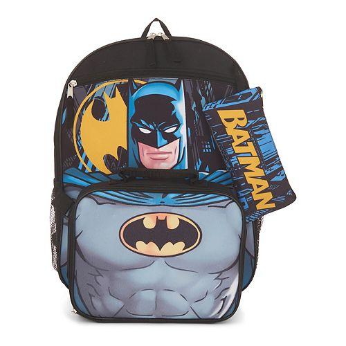 Batman 5-piece Backpack Set