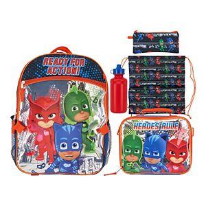 PJ Masks 5-piece Backpack & Lunch Bag Set