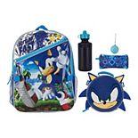 Sonic The Hedgehog 5-piece Backpack & Lunch Bag Set
