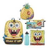 Spongebob Square Pants 5-piece Backpack Set