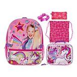 Jojo Siwa Rainbow 5-piece Backpack & Lunch Bag Set