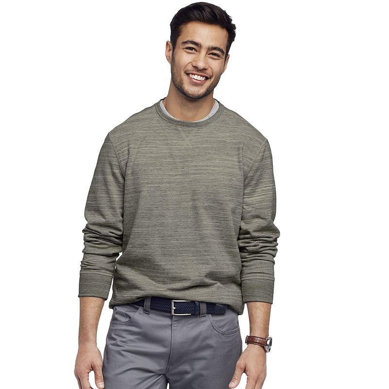 Men's Van Heusen Classic-Fit Crewneck Pullover. Size: Small. Med Grey