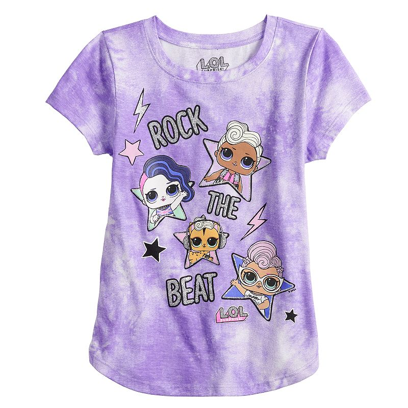 Girls 7-16 L.O.L. Surprise! Rock the Beat Tee. Girl's. Size: Small. Purple