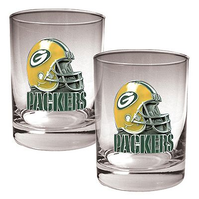 Green Bay Packers 2-pc. Rocks Glass Set