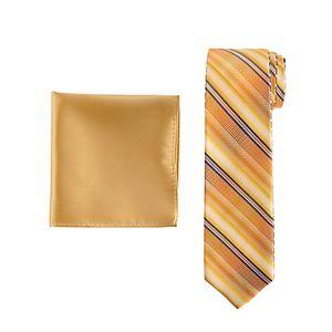 Men's Pierre Cardin Reversible Skinny Tie & Pocket Square Set