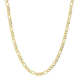 Primavera 24k Gold Over Silver Figaro Chain Necklace - 24 in.