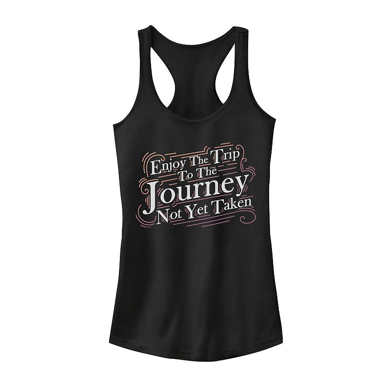 "Juniors' ""Enjoy the Trip"" Tank Top, Girl's, Size: XXL, Black"