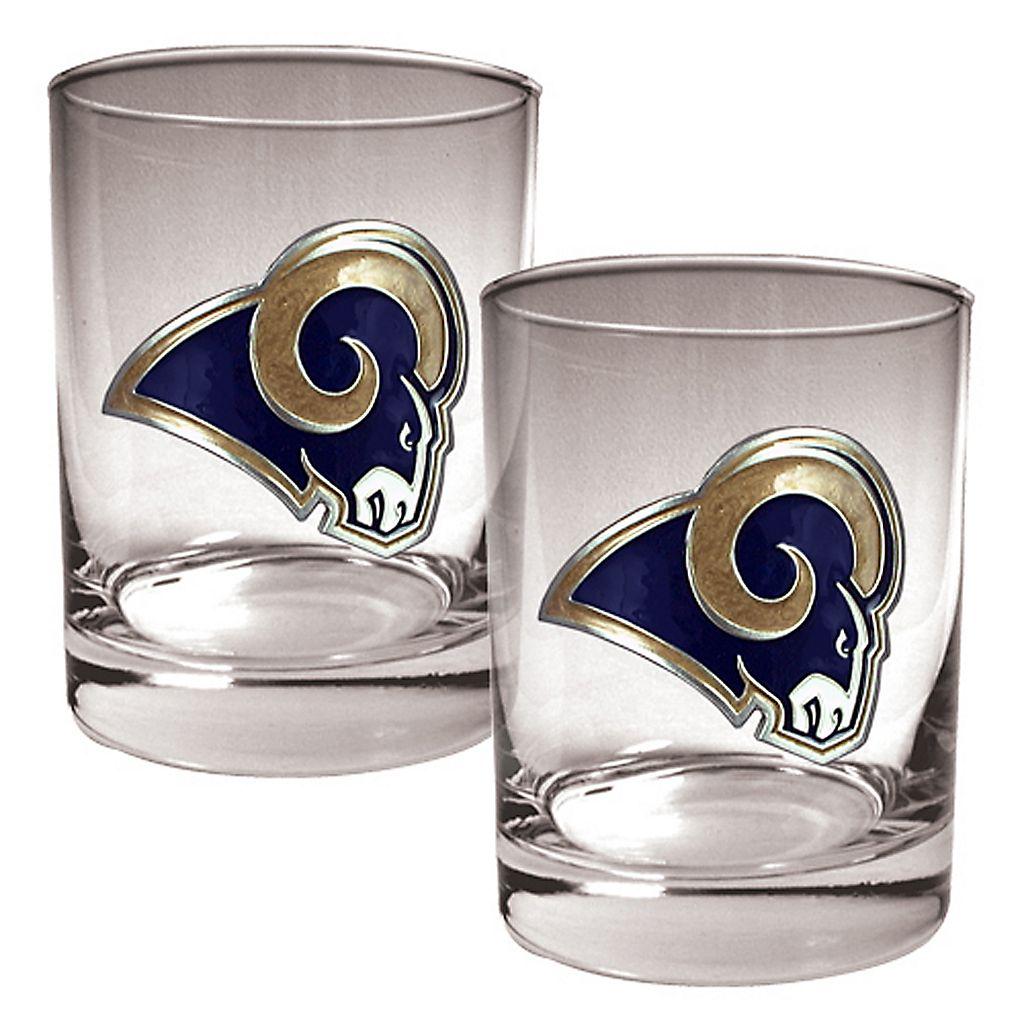 Los Angeles Rams 2-pc. Rocks Glass Set