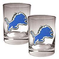 Detroit Lions 2-pc. Rocks Glass