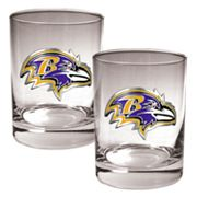 Baltimore Ravens 2-pc. Rocks Glass Set