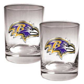 Baltimore Ravens 2-pc. Rocks Glass Set