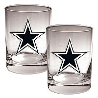 Dallas Cowboys 2 pc Rocks Glass Set