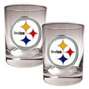 Pittsburgh Steelers 2 pc Rocks Glass Set