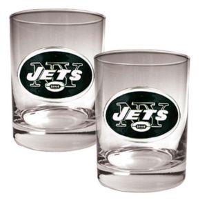 New York Jets 2-pc. Rocks Glass Set