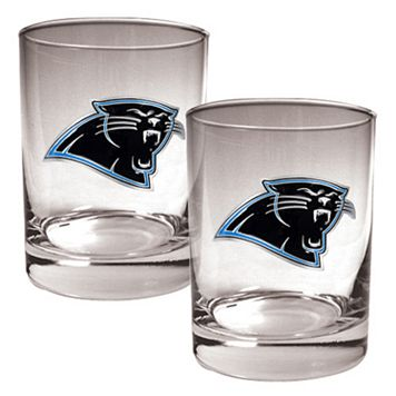 Carolina Panthers 2-pc. Rocks Glass Set