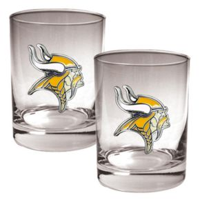 Minnesota Vikings 2-pc. Rocks Glass Set