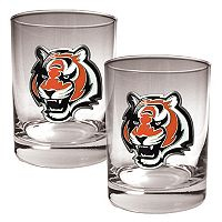 Cincinnati Bengals 2 pc Rocks Glass Set