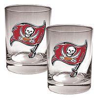 Tampa Bay Buccaneers 2 pc Rocks Glass Set