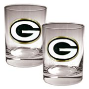 Green Bay Packers 2 pc Rocks Glass Set