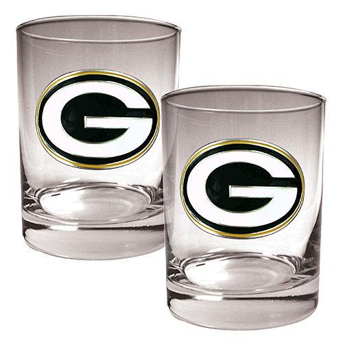 Green Bay Packers 2-pc. Rocks Glass Set