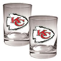 Kansas City Chiefs 2 pc Rocks Glass Set