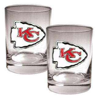 Kansas City Chiefs 2-pc. Rocks Glass Set