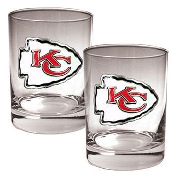 Kansas City Chiefs 2-pc. Rocks Glass Set