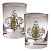 New Orleans Saints 2-pc. Rocks Glass Set