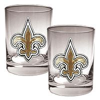 New Orleans Saints 2-pc. Rocks Glass Set