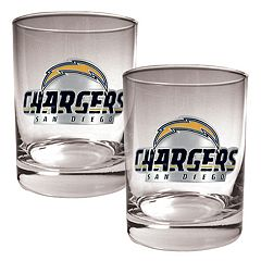 San Diego Chargers 2 pc Rocks Glass Set