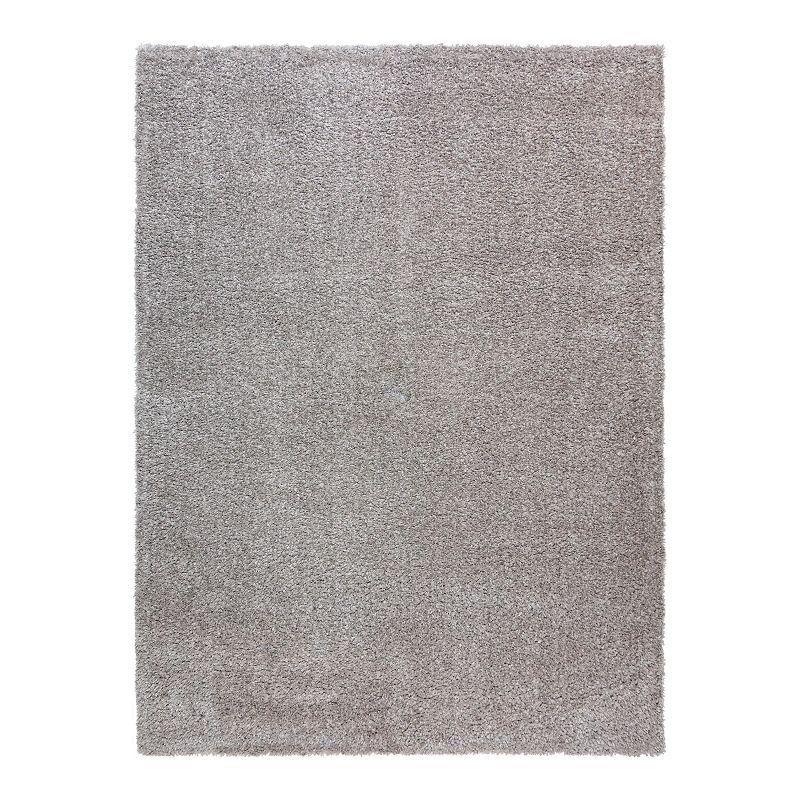Gertmenian Holmby Solid Shag Area Rug, Grey, 6.5X9.5 Ft