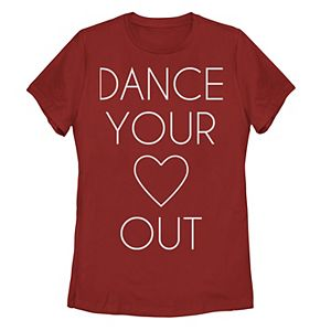 Juniors' Dance Your Heart Out Graphic Tee