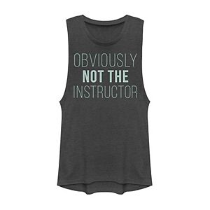 Juniors' Obviously Not The Instructor Muscle Tee