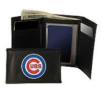 Chicago Cubs Trifold Leather Wallet