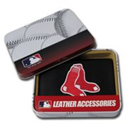 Boston Red Sox Trifold Leather Wallet