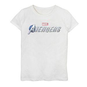 Girls 7-16 Marvel Avengers Silver Logo Graphic Tee