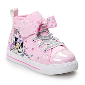Disney's Minnie Mouse Toddler Girls' Light Up High Top Shoes