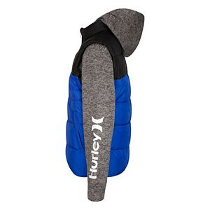 Boys 8-20 Hurley 2Fer Hooded Full-Zip Jacket